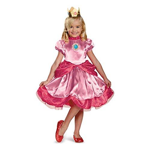 Super Kleinkind Kostüm Mario - Disguise Nintendo Super Mario Brothers Princess Peach Mädchen Kleinkind Kostüm