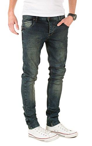 PITTMAN Herren Jeans 409 skinny fit (ggf. eine Nummer größer bestellen) Blau (Night Sky 193924)