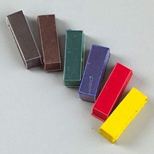 efco Sortiert pigmentfärbung Sticks für Wachs, 6-TLG.