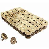SinceY Fermoir magnétique Rivet Forte Pression magnétique Bouton Pression 14mm / 18mm (0.55inch / 0.7inch) 100/200 Ensembles (Argenté, Or, Bronze)