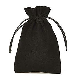 10 sacchetti di velluto con laccio di chiusura, misura 30x20cm, sacchetto per regali, calendario d'avvento, natale ed…