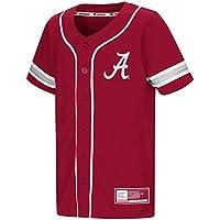 "Alabama Crimson Tide NCAA ""Play Ball"" Youth Jeunes Button Up Baseball Jersey Maillot"