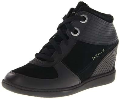 Skechers Plus 3 48030, Damen Sneaker, Schwarz (Bbk), 39.5