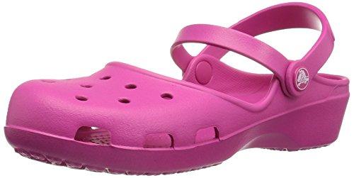 crocs Damen Karinclog Clogs, Pink (Candy Pink), 41-42 EU (Ballerinas Crocs)