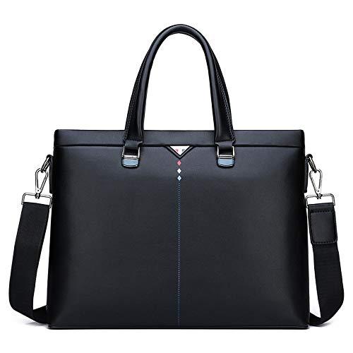 PANGOIE,Umhängetaschen Aktentasche LaptoptascheWasserdichteArbeitstasche Messenger Bag,Black-OneSize