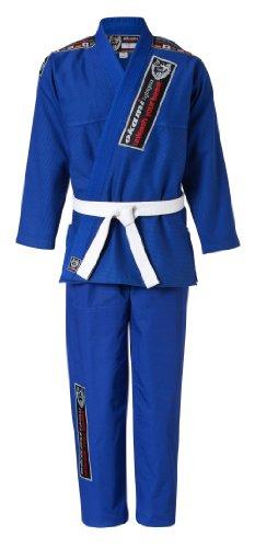 Okami fightgear kimono uni bjj gi fighter, blu (blau), ca, 160 cm