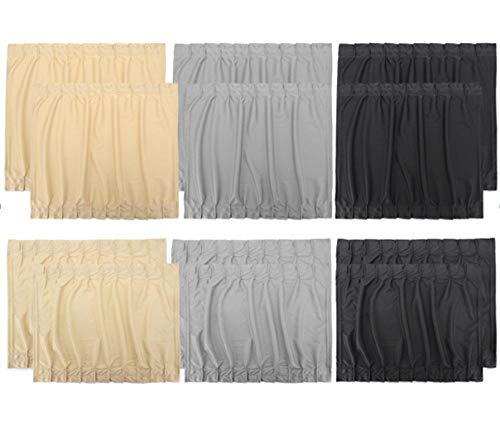 Serios Car UV Protection Sun Shade Curtains Side Window Visor Mesh Cover Shield for Cars Trucks & SUVs - 4 Pack (Black, S)