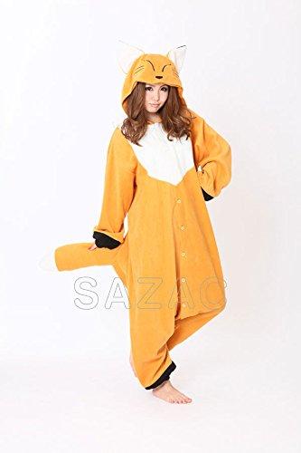 Original Sazac Tiere Kigurumi Fox Strampelanzug Cosplay Kostüm Partei Pyjama