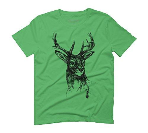 Deer Men's Graphic T-Shirt - Design By Humans Green