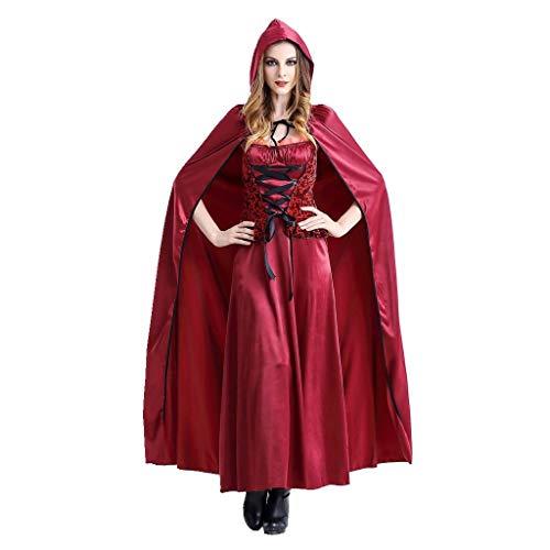 Kostüm Dummy Mädchen - Beonzale Halloween Kostüm Frauen Halloween Cosplay Rotkäppchen Vintage Langes Kleid Steampunk Gothic Kostüm