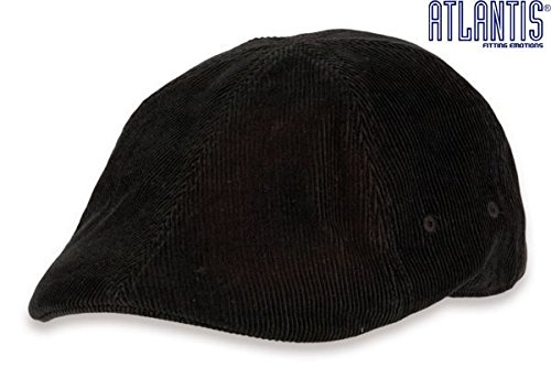 GATSBY CORDY NERO tg S/M (55/57cm) Coppola Cappello Basco hute fashion Berretto Atlantis Caps