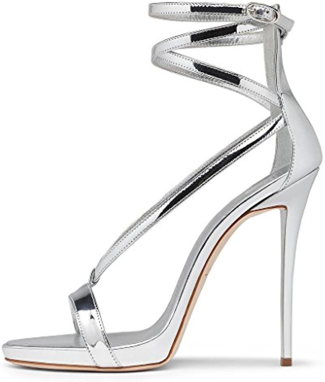 Amy Q Estate Open Toe Ankle Strap Strap Strap fibbia tacco alto gladiatore sandali delle donne per il vestito del partito...   Specifica completa  04b795