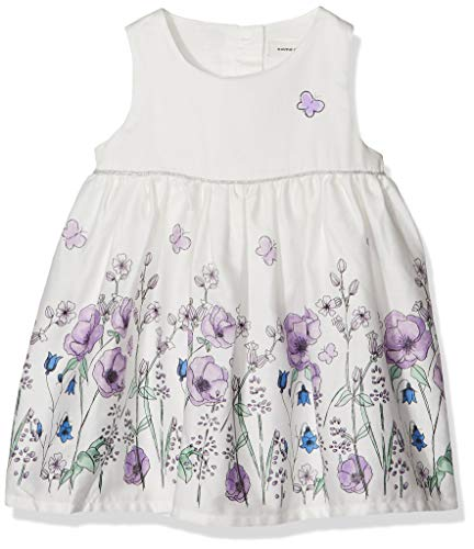 NAME IT Baby-Mädchen NBFFALLYN Spencer Kleid, Weiß (Snow White), (Herstellergröße: 68) (Girls White Party Kleider)