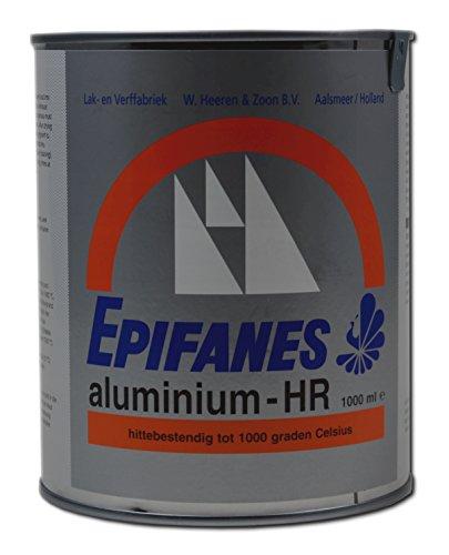 Epifanes Aluminium bis 1000 Grad, 1 Liter E7-9B hitzebeständige Anstrichfarbe (Epifanes Lack)