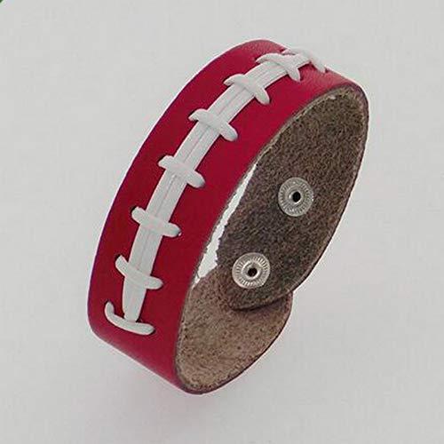 SHOUAQI Armband Sport gesäumt Spitze PU Armbänder Herringbone Softball Fast Pitch Manschette Armband - Spitze Gesäumt