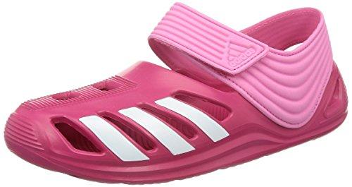 ADIDAS Sandali da Mare - K NERO - Strisce Bianche - NERO - 28, Toni di rosa