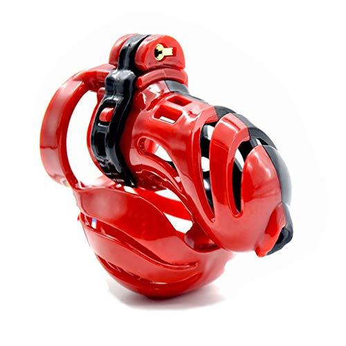 DUJ-Sex toys Cinture di castità Slip maschili premium leggeri per dispositivi di castità in resina per uso professionale. Confezione discreta da 3,14 pollici (Color : Clear, Size : 45mm)
