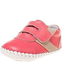 Little Blue Lamb - Zapatos de bebe primeros pasos de cuero niñas | Zapatillas de deporte salmon