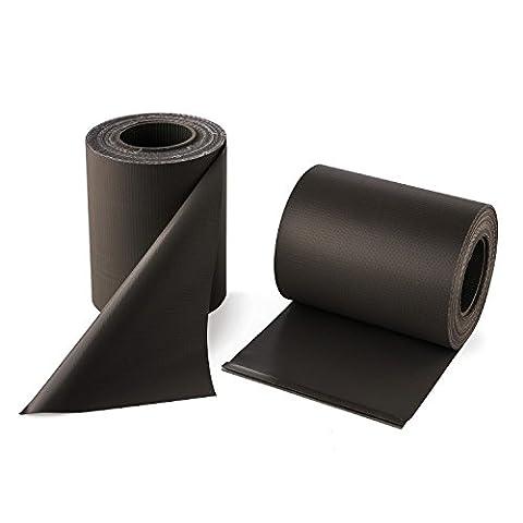 Blumfeldt Pureview • Sichtschutz • Windschutz • Sichtschutzstreifen • für Gittermattenzäune und Doppelmattenzäune • Doppelpack • 35 m x 19 cm • 60 Klemmschienen • 450 g/m² PVC-Folie • blick- und winddicht • reißfest • UV-beständig • dunkelgrau