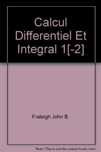 Calcul différentiel et intégral 1