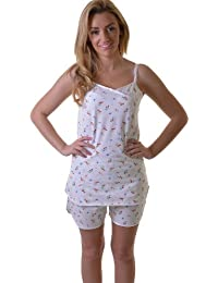 ba27f25066 Flirty Cotton Shortie Set in White with Cherry and Strawberry Print