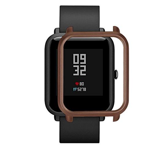 Logobeing Funda Completa para Huami Amazfit Bip Youth Watch Protección Suave de TPU de Silicona Smartwatch Protector (T)