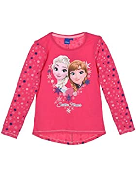 Disney Frozen - Die Eiskönigin Kinder longsleeve T-Shirt langarm Top Langarmshirt Oberteil für Mädchen mit Elsa...