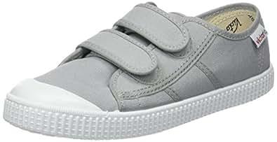victoria Unisex-Kinder Basket Lona Dos Velcros Sneaker, Grau (Zinc), 23 EU