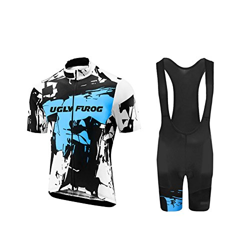 Uglyfrog Abbigliamento Ciclismo Set Estivo Maglie Ciclismo Maniche Corte+Salopette Ciclismo Squadra Professionale DTMX01