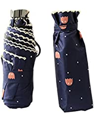 lifewheel 5Stage Cartoon Imprimé en tricot côté Ultralight Poignée Plate Mini poche Sun Block parapluie soleil parapluie vinyle résistant