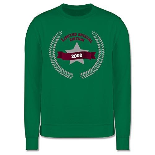 Geburtstag - 2002 Limited Special Edition - Herren Premium Pullover Grün