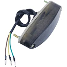 Posterior de la motocicleta LED de la cola del freno de parada N¨²mero luz de la placa de luz de freno de la bici 28 LED