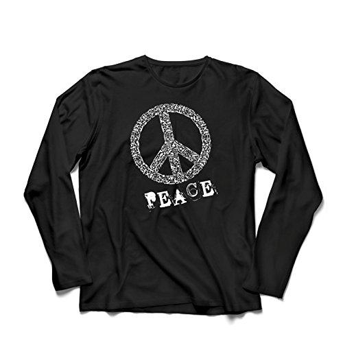 ren t Shirts FRIEDENSsymbol - 1960er Jahre 1970er Jahre Hippie Hippie, Street-Kleidung, Friedenszeichen, Sommer Festival Hipster Swag (XX-Large Schwarz Mehrfarben) (Studio 54 Film Kostüme)