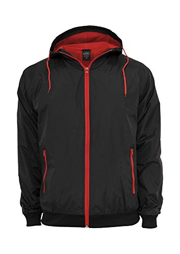 Urban classics contrast windrunner blk/red