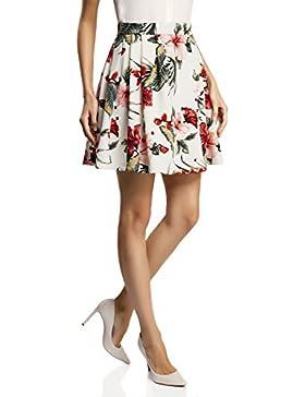 oodji Ultra Mujer Falda de Punto con Pliegues Suaves