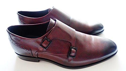 HUGO Hugo Boss C-molemo Herren Schuhe, Dunkel Rot Leder Business Schuhe,Große; 42