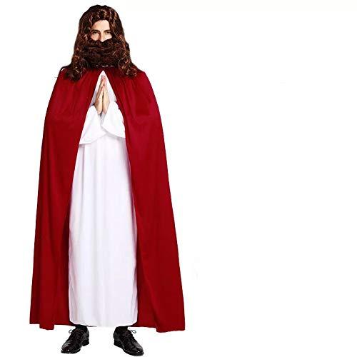 thematys Jesus von Nazareth Kostüm-Set für Herren - perfekt für Fasching, Karneval & Cosplay - Einheitsgröße 160-180cm - ohne Haare und - Lustige Jesus Kostüm
