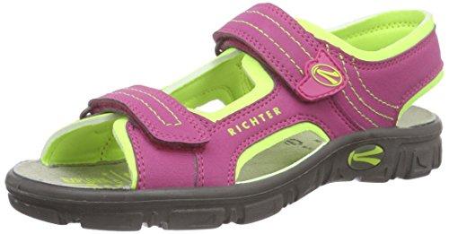 Richter Kinderschuhe Adventure, Sandales ouvertes fille Rose - Pink (fuchsia/mais neon 3501)