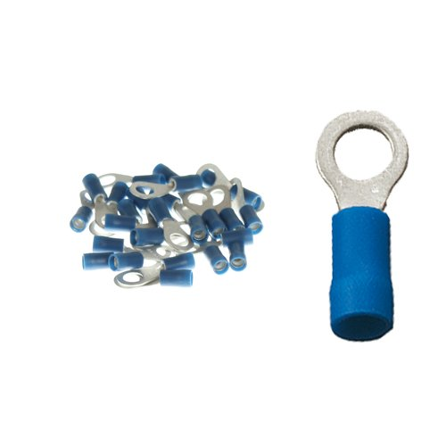 25 isolierte Ringkabelschuhe M6 blau 1,5 - 2,5qmm