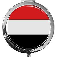 """metALUm - Extragroße Pillendose in runder Form""""Flagge Jemen"""" preisvergleich bei billige-tabletten.eu"""