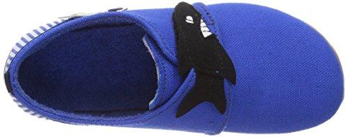 Living Kitzbühel Klettschuh Hai Jungen Flache Hausschuhe Blau (blue coral 563)