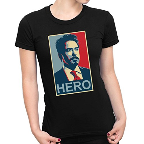 Tony Stark Iron Man Hero Shepard Fairey Style Women's T-Shirt (Iron Shirt Man Damen)