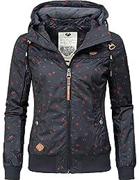 150e6ebdfd22b3 Ragwear Damen Übergangsjacke Regenjacke Jotty Berries Schwarz Gr. M