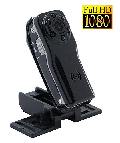 Tangmi 1080P HD Weitwinkel Mini Kamera, kleine Überwachungskamera mit Bewegungserkennung und Infrarot Nachtsicht für Haus Sicherheit / Büro / Garten / Garage