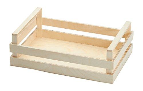 Bisetti 104 cassetta vassoio in legno, 30x20x10 cm