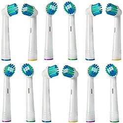 24 x Precision Clean Cabezales de repuesto Recambios Cepillo Cabezal de Recambio Para Braun y Oral-B Cepillo de Dientes Eléctrico