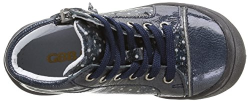 GBB Nerine, Baskets Hautes Fille Bleu (32 Vvn Marine/Imprimé Dpf/Heidi)
