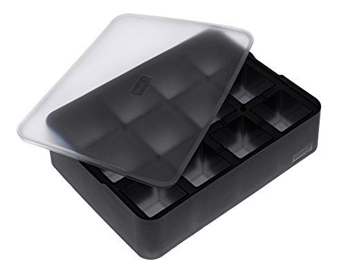 Price comparison product image Lurch Silicone Ice Former Premium Ice Cream Maker Ice Cube Tray With Lid For 12, 4cm, Black, 6.5x 15.5x 20.5cm