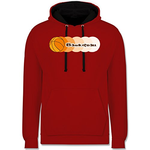 Basketball - Basketball - Kontrast Hoodie Rot/Schwarz