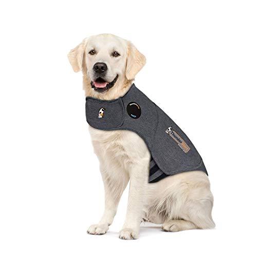 Thundershirt Beruhigungsweste, Hundemantel für ängstliche Hunde, Größe XL, grau, 99005 (Service-hund Mantel)